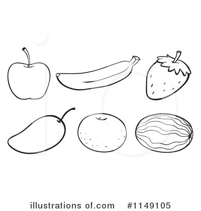 Royalty Free RF Fruit Clipart Illustration 1149105 By Graphics