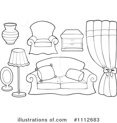 Royalty Free RF Furniture Clipart Illustration 1112683 By Visekart