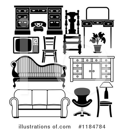Attractive Royalty Free (RF) Furniture Clipart Illustration #1184784 By  AtStockIllustration