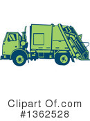 Garbage Truck Clipart #1362528 by patrimonio