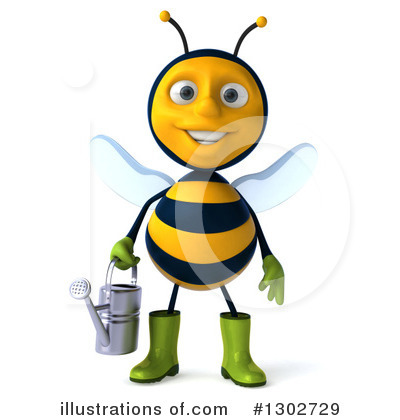 Royalty-Free (RF) Gardener Bee Clipart Illustration by Julos - Stock Sample #1302729