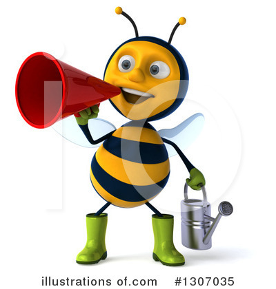 Gardener Bee Clipart #1307035 by Julos
