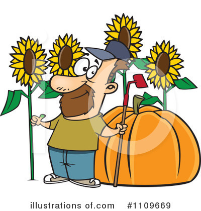 Royalty-Free (RF) Gardening Clipart Illustration by toonaday - Stock Sample #1109669