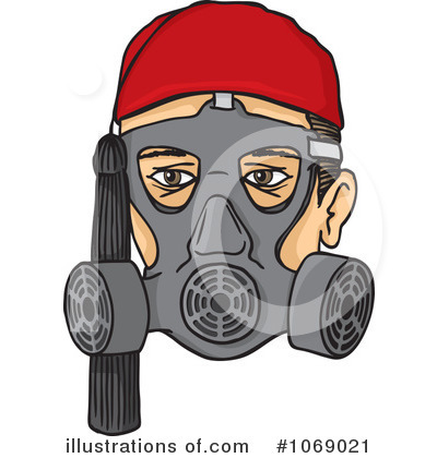 gas mask clipart #1069021 - illustrationany vector