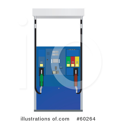 Gas Pump Clipart #60264 - Illustration by JR