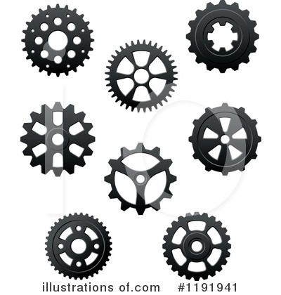 Gears Clipart #1191941 - Illustration by Vector Tradition SM