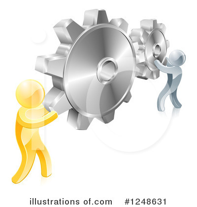 Teamwork Clipart #1248631 by AtStockIllustration