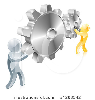 Teamwork Clipart #1263542 by AtStockIllustration