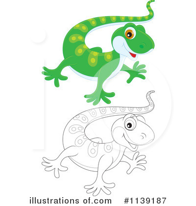 Gecko Clipart #1139187 - Illustration by Alex Bannykh