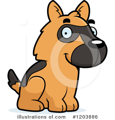 Dog Clipart #1203886 by Cory Thoman