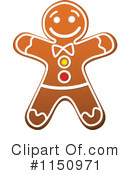Gingerbread Cookie Clipart #1150971 by Vector Tradition SM