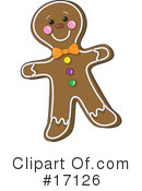 Gingerbread Man Clipart #17126 by Maria Bell