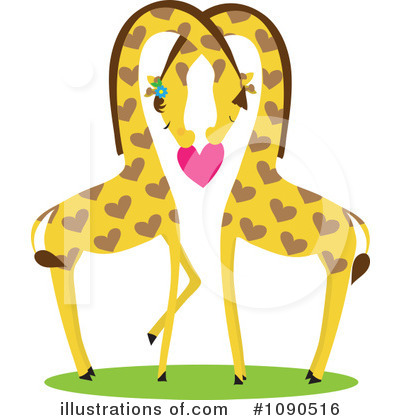Giraffe Clipart #1090516 - Illustration by Maria Bell