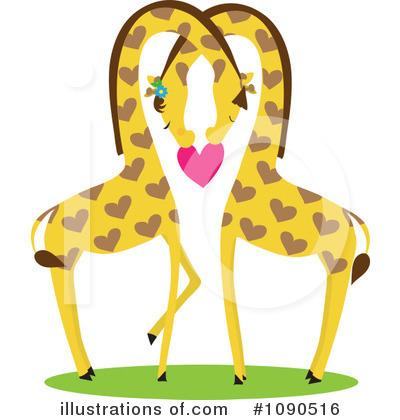 Giraffe Clipart #1090516 - Illustration by Maria Bell