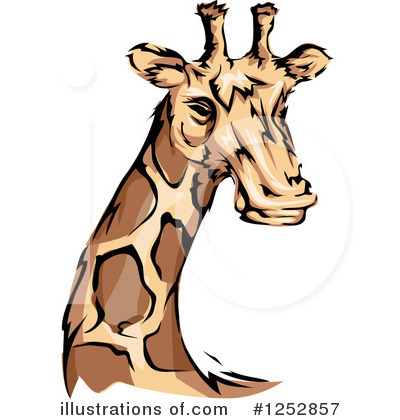 Royalty-Free (RF) Giraffe Clipart Illustration by BNP Design Studio - Stock Sample #1252857