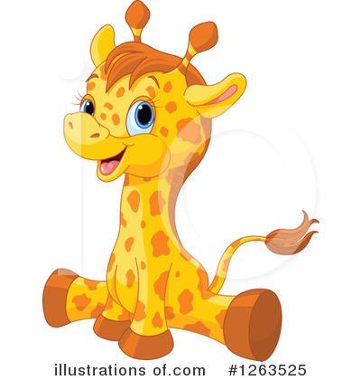 Giraffe Clipart #1263525 - Illustration by Pushkin