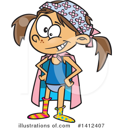 Girl Clipart #1412407 by toonaday