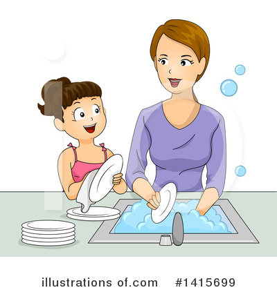 Washing Dishes Clipart #1415699 by BNP Design Studio