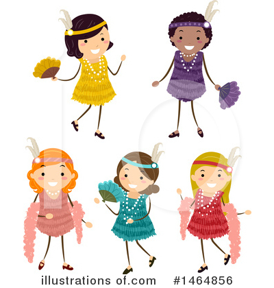 Flapper Clipart #1464856 by BNP Design Studio