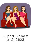 Girlfriends Clipart #1242623 by BNP Design Studio