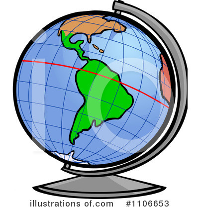 globe clipart 1106653 illustration by cartoon solutions rh illustrationsof com Globe with Equator Line Continents Clip Art