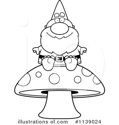 Gnome Clipart #1139024 - Illustration by Cory Thoman