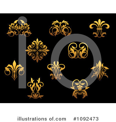 Fleur De Lis Clipart #1092473 by Vector Tradition SM
