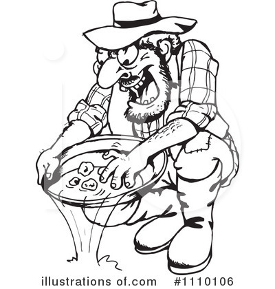 Gold Mining Clipart #1110106 - Illustration by Dennis Holmes Designs