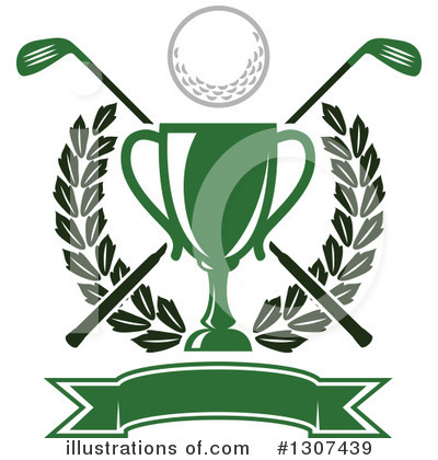 Golf Clipart #1307439 - Illustration by Vector Tradition SM
