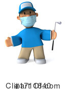 Golfer Clipart #1711640 by Julos