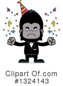 Gorilla Clipart #1324143 by Cory Thoman