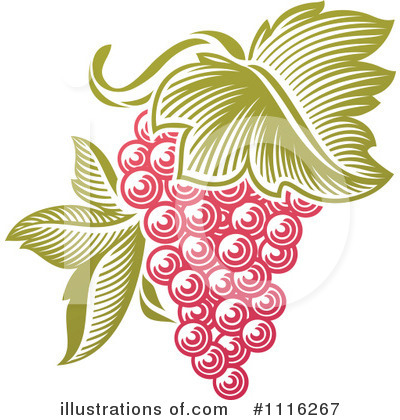 Royalty-Free (RF) Grapes Clipart Illustration by elena - Stock Sample #1116267
