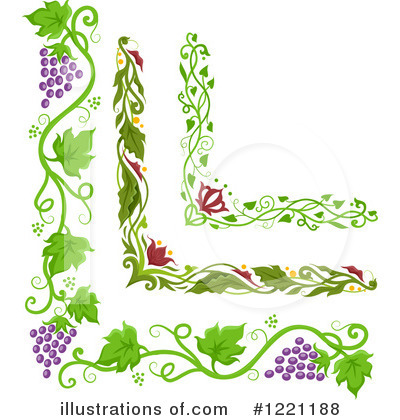 grapevine clipart 1221188 illustration by bnp design studio rh illustrationsof com grape vine border clip art free grape vine leaf clip art