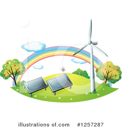 Royalty-Free (RF) Green Energy Clipart Illustration by Graphics RF - Stock Sample #1257287