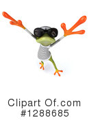 Green Frog Clipart #1288685 by Julos