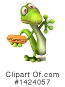 Green Gecko Clipart #1424057 by Julos