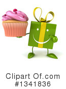 Green Gift Character Clipart #1341836 by Julos