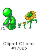 Green Man Clipart #17025 by Leo Blanchette