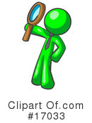 Green Man Clipart #17033 by Leo Blanchette
