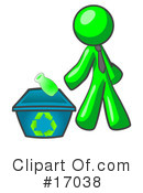 Green Man Clipart #17038 by Leo Blanchette