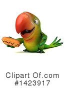 Green Parrot Clipart #1423917 by Julos