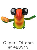 Green Parrot Clipart #1423919 by Julos