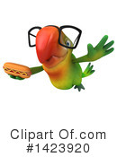 Green Parrot Clipart #1423920 by Julos