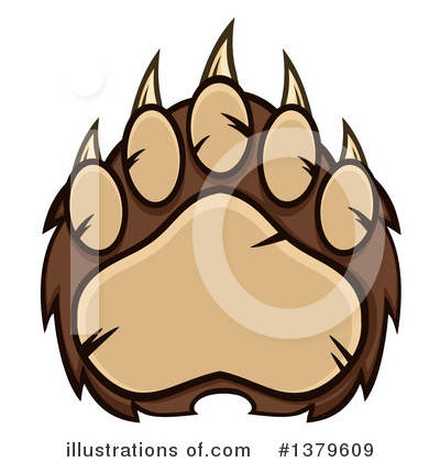 Paw Prints Clipart #1379609 by Hit Toon