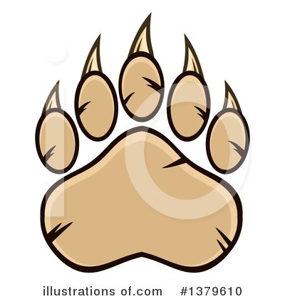 Paw Prints Clipart #1379610 by Hit Toon