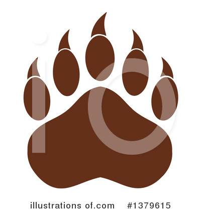 Paw Prints Clipart #1379615 by Hit Toon