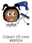Hair Stylist Clipart #86554 by Pams Clipart