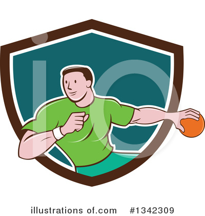 Dodgeball Clipart #1342309 by patrimonio