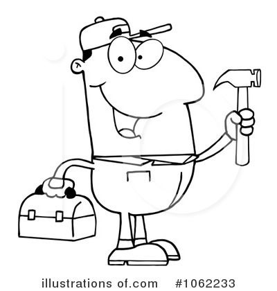 Handyman Clipart #1062233 - Illustration by Hit Toon