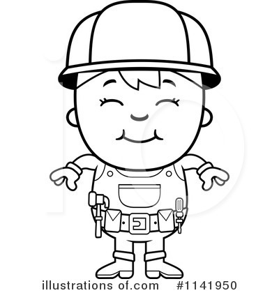 Handyman Clipart #1141950 - Illustration by Cory Thoman